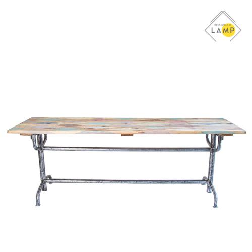 stół z kolorowym blatem, lampy stojące, wiszące, biurkowe, kinkiety, tripody, szafki, stoły, taborety, krzesła, fotele