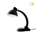 Czarna lampa biurkowa, lampy stojące, wiszące, biurkowe, kinkiety, tripody, szafki, stoły, taborety, krzesła, fotele